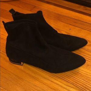 Zara black stretchy booties